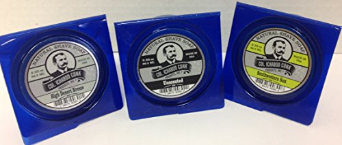 Col. Conk All Natural Shave Soap 2.25 Ounces (Variety 3 Pack) (Mug Conk Colonel Shave)
