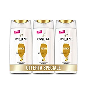 Pantene Pro-V Shampoo Rigenera & Protegge, Capelli Deboli o Danneggiati, Maxi Formato da 3 x 675 ml