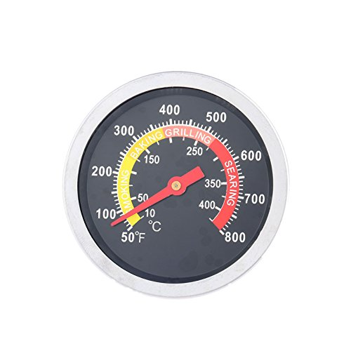 Mtsooning 1Pc 2-3/8 Face 800F Thermometer Temperature Gauge BBQ Barbecue Charcoal Grill Smoker