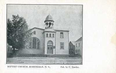 N169 Baptist Church Rosendale, New York Postcard