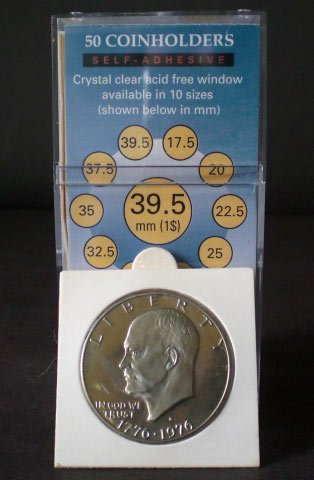 50 2x2 SelfAdhesive Cardboard Coin Holders LARGE DOLLARS by SuperSafe