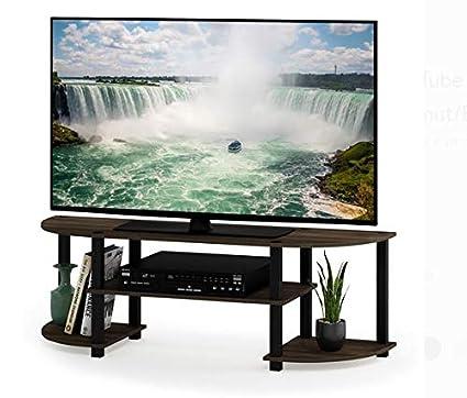 Amazoncom Tv Stand For 50 Inch Tv Columbia Walnutblack Wood