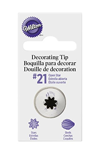 (Wilton Cake Decorating Tip Pkg Open Star #21 )
