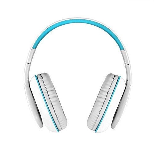 Big Casque Audio Wired Gaming Earphone Bluetooth Headphone - WhiteBlue