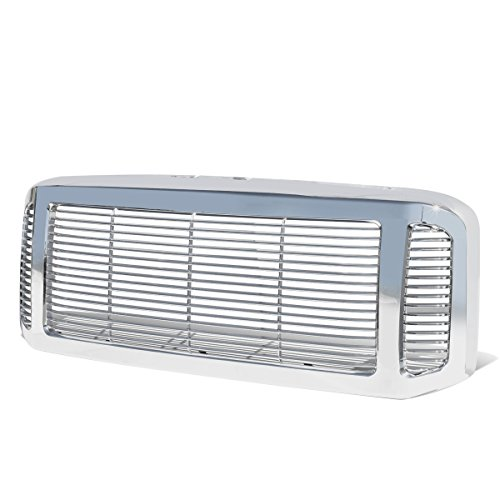 For Ford F250-F550 Super Duty Chrome Precise Fit Vertical Fence Full ABS Front Grille/Grill Guard ()