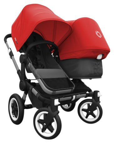 Bugaboo Donkey Complete Duo Stroller - Red - Aluminum by Bugaboo