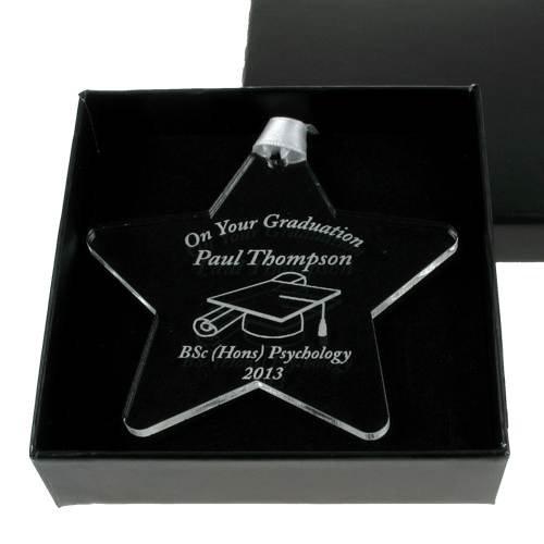 Personalised Graduation Acrylic Star Keepsake, Boys Graduation gift, Girls graduation gift, Star graduate, best graduate gift