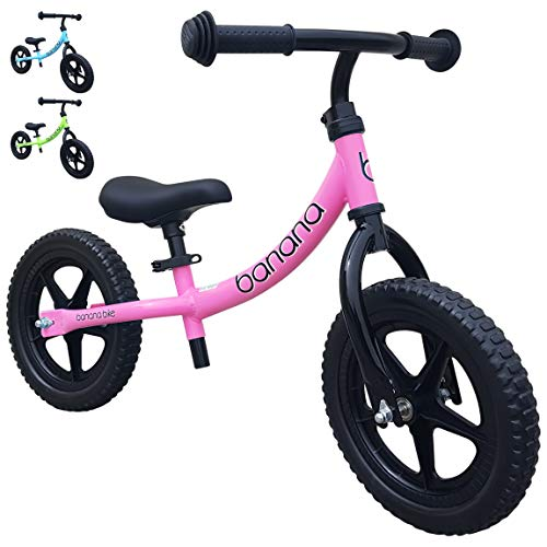 Banana Bike LT - Lightweight Balance Bike for Toddlers, Kids - 2, 3, 4 Year Olds (Pink 2019) (Best Glider Bikes For Toddlers)