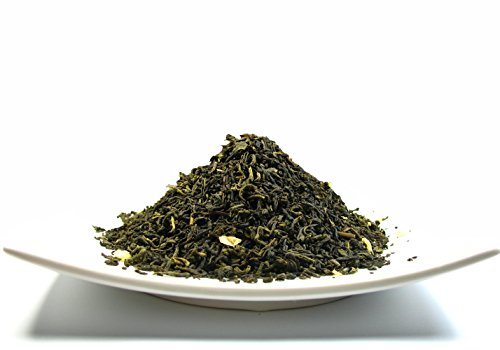 Decaf Jasmine Green Tea, Perfect beverage who wish for Caffeine-Free Tea - 4 Oz Bag (Wholesale Loose Leaf Tea)