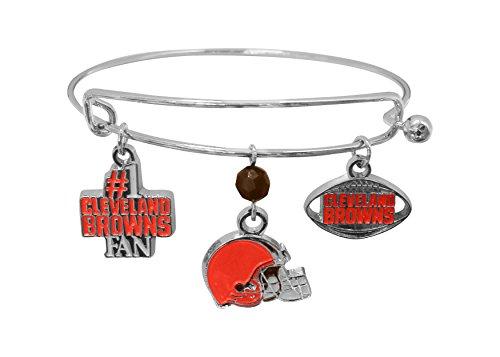 NFL Cleveland Browns Three Charm Logo Bracelet