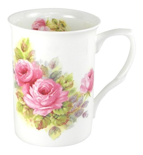 (Adderley China Pink Roses Fine Bone China Coffee or Tea Mug)
