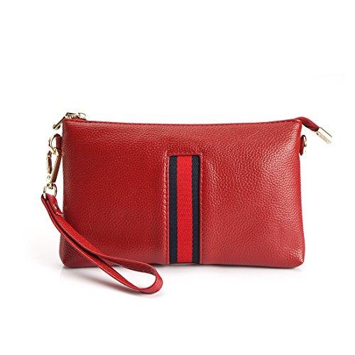 Leather Womens Cross Wallet SEALINF Body Small Shoulder Wrislet Bag Red Handbag Purse Clutch FZxnqI5
