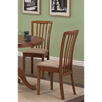 set of 2 dining chairs microfiber fabric dark oak finish