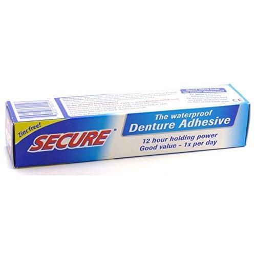 Secure Denture Waterproof Adhesive 1.40 oz - Pack of 2
