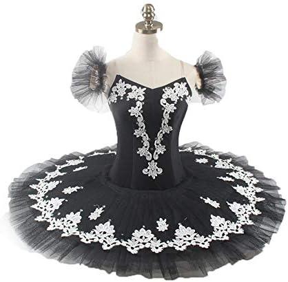 QSEFT Ballet Profesional Tutu Falda Negro Plata Bailarina ...