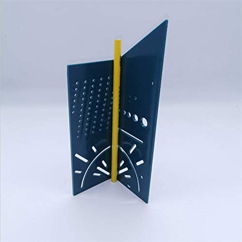 ghfcffdghrdshdfh Wood Working Ruler 3D Mitre Angle Measuring Gauge Square Size Measure Tool blue