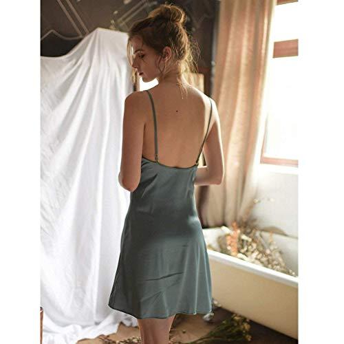 Para Perspectiva Noche Damas Falda Camisones Calzado Betrothales Sche Nocturno Ropa El Camisón Verano Pijamas Hogar Encaje De Azul Calentamiento Camisero wXBfO