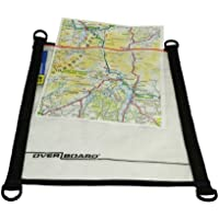 Overboard OB1081BLK Map Case Transparent Pouch Waterproof Map Case Document Pouch Medium, Clear