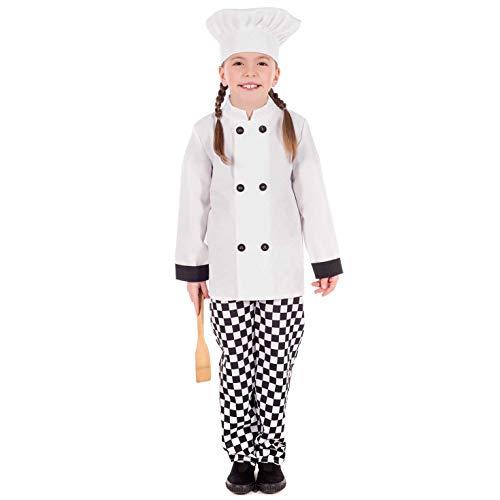 Amazon.com: Disfraz de chef para niños, uniforme de cocinero ...