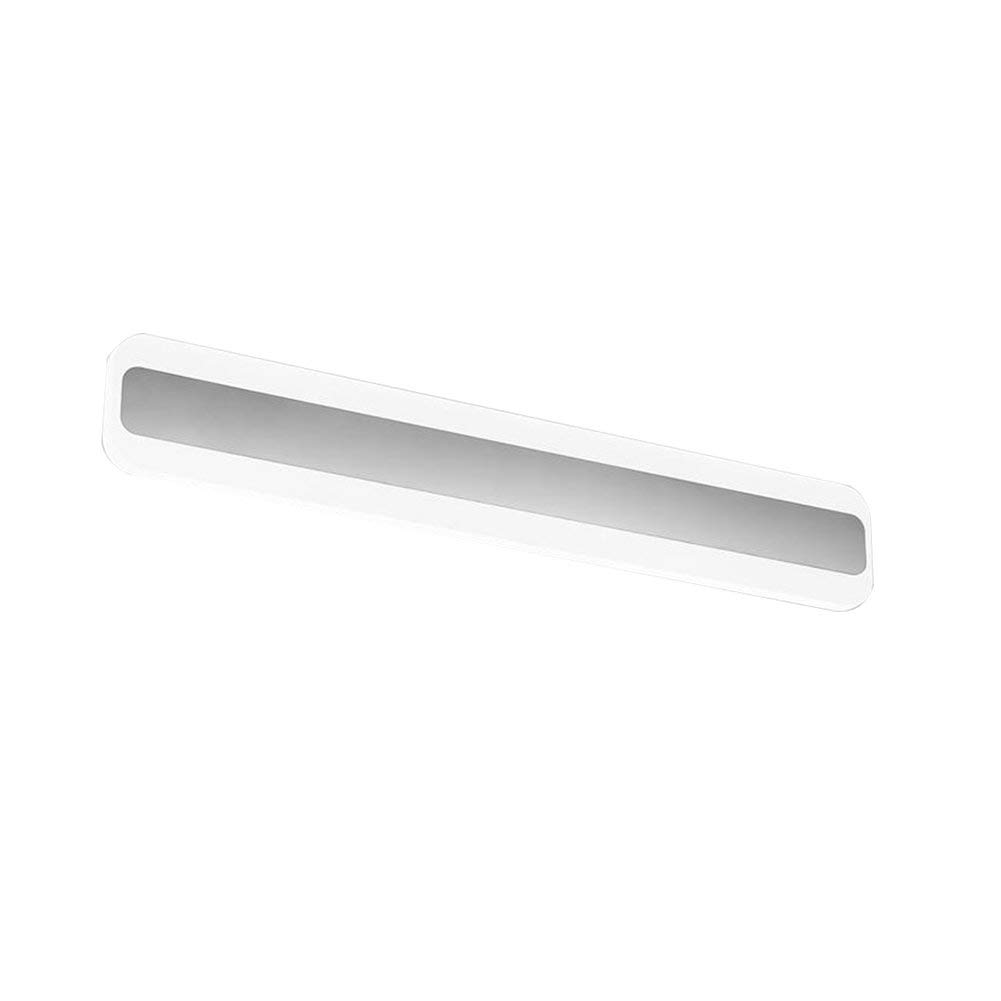 Fenciayao バスミラーライトライトLEDバスルームミラーフロントライト化粧鏡フロント照明バスワランプミラーライト低エネルギー消費量ハイライトシルバー省エネ (Color : 白, サイズ : 60CM) 60CM 白 B07RZ1L9RT