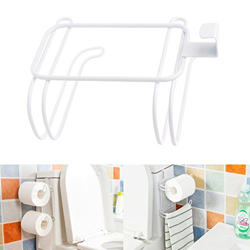 Techinal Bathroom Over Tank Toilet Paper Roll Holder - Double Roll Tissue Paper Storage by Techinal (Image #2)