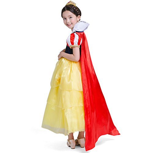 loel Girlsu0027 Princess Snow White Costume Fancy Dresses Up for Christmas Party  sc 1 st  Loel Girlu0027s Dress & loel Girlsu0027 Princess Snow White Costume Fancy Dresses Up for ...