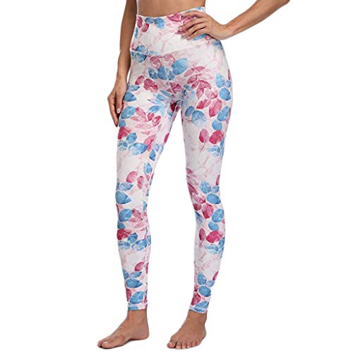 Excursion Sports Casual Leggings for Ladies, Floral Print High Waist Tummy Control Athletic Workout Tights, Ultra Soft Butt Lift Fitness Running Cycling Skinny Yoga Pants 29' Soccer Ball Mat