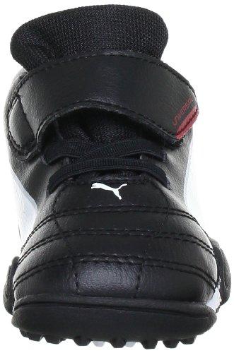 Puma - Botas de fútbol infantil Schwarz (black-white-ribbon red 02) (Schwarz (black-white-ribbon red 02))