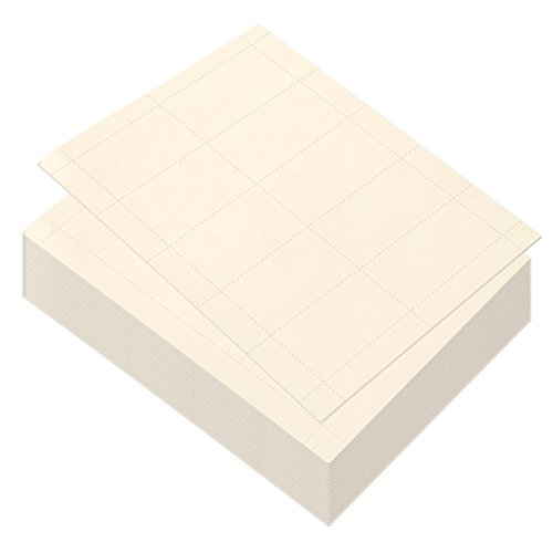 (100 Sheets-Blank Business Card Paper - 1000 Business Card Stock for Inkjet and Laser Printers, 170gsm, Ivory, 3.5 x 1.9)