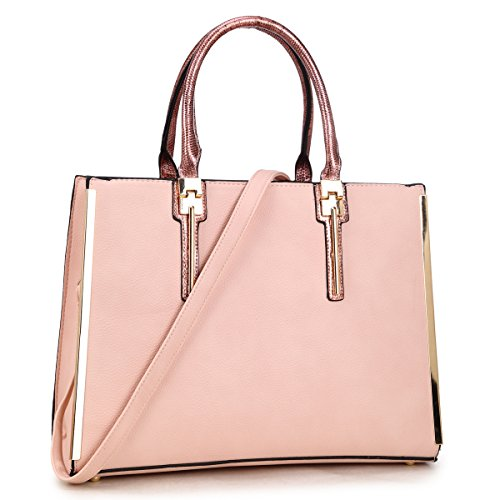 dasein-women-new-satchel-shoulder-bags-ipad-bags-fashion-purses-with-gold-plated-trim-on-both-sides