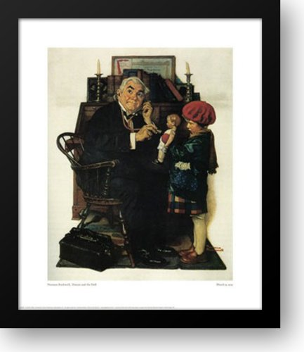 Doctor And The Doll 21x24 Framed Art Print by Rockwell, Norman (Rockwell Norman Dolls)