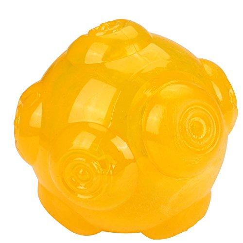 Mogoko Tough Rubber Squeak Chew Toy Ball for Dogs,Puppy Bite