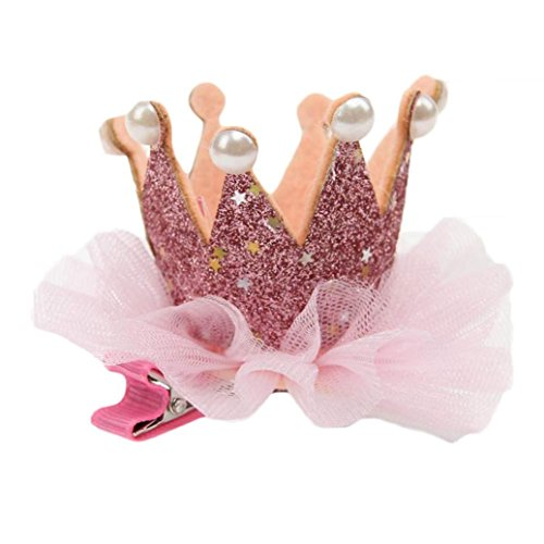 2017 Hot Cute Kids Toddler Girls Princess Hairpin Elastic Flower Crown Headwear by FEITONG
