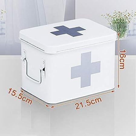 GOXJNG Botiquín de Primeros Auxilios Kit Médico Kit portátil Medicina de Metal Caja de Primeros Auxilios Caso de hogares Envase médico de la Maleta de Emergencia de niño Ministerio del Interior: Amazon.es: