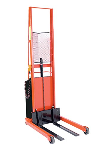 - Wesco Industrial Products 261031 Straddle Fork Model Power Stacker, Phenolic Wheels, 1,000-lb. Load Capacity, 56