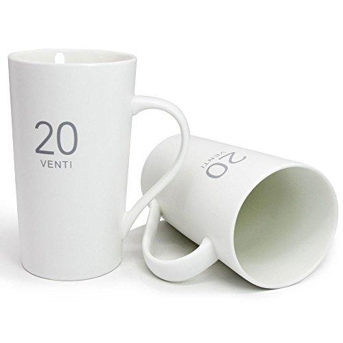Momugs Number Pattern Simple Pure Large Milk Mug  , Tall Whi