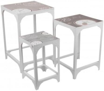 Cuisine Leg Lot De 3 Tables Basse Gigognes Gueridon En Metal Style Atelier Fer Loft Pour Chevet Entree Ou Salon