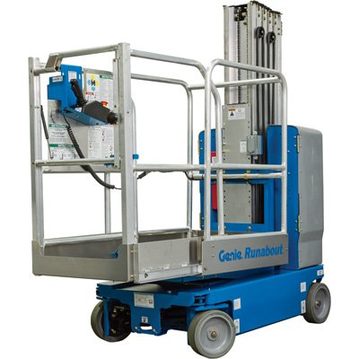 Genie GR20 Runabout Aerial Work Platform with Extension Deck - 500-Lb. Capacity, Model# GR20 W EXTENSION DECK