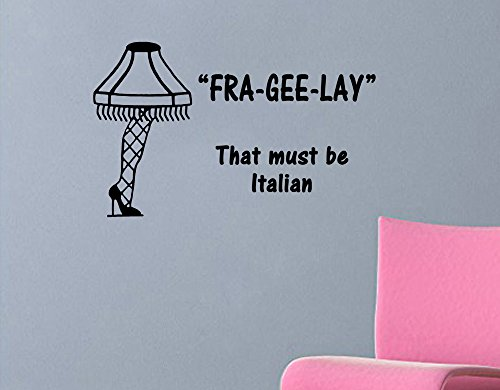 A Christmas Story quote-Fra-Gee-Lay-with leg lamp wall decal (18
