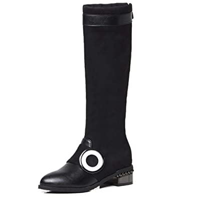 150e075568de0 Amazon.com   GIY Women's Pointed Toe Knee High Boots Side Zipper ...