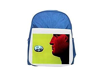 Figuras de una pareja impreso Kid s azul mochila, para mochilas, cute small