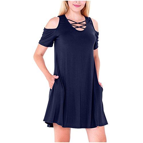 Damen Baumwolle Sommerkleider IHRKleid® Rockabilly kleid ...