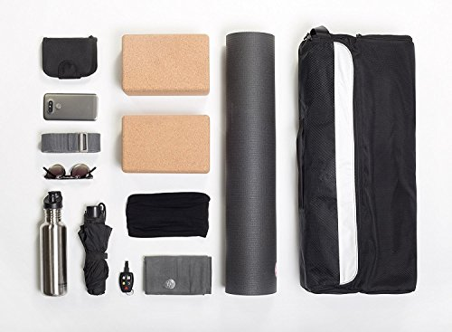 Slope Yoga Mat Bag - Universal, all-in-one Bag, The Only Crossbody Yoga Bag That Fits all your Yoga Accessories - Black/Black