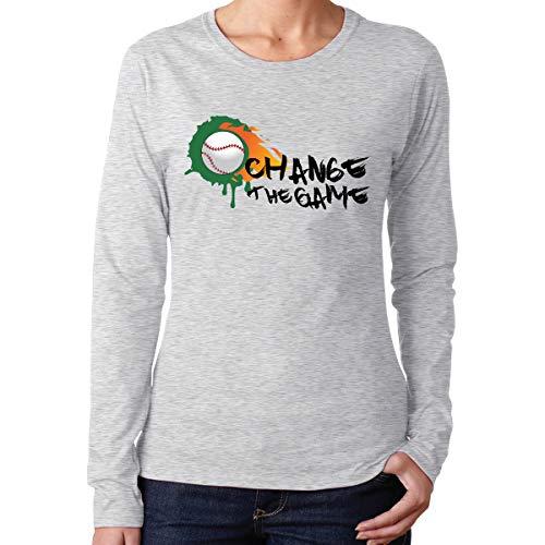 MiiyarHome Women's Long Sleeve T-Shirts Sarah Palin Movie Tee, Teen Girls Printed Long Sleeves Gray XL