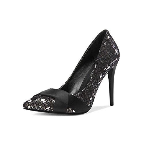 Talons Sexy Stiletto 9 Pointues Chaussures Couleur Wysm Mélangées Chaussures Hauts Silver Talons 8cm qBxz8SA