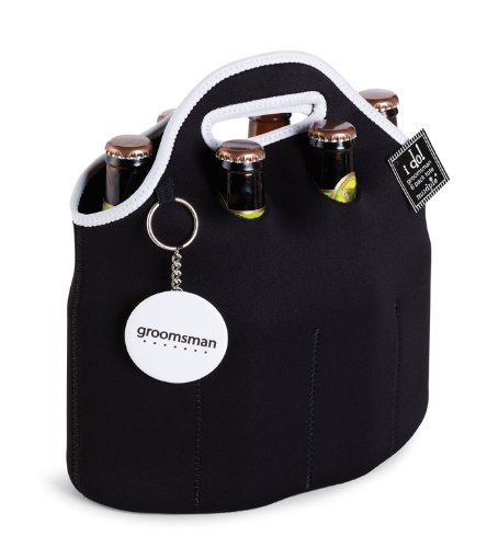 Mud Pie Groomsmen 6-Pack Carrier