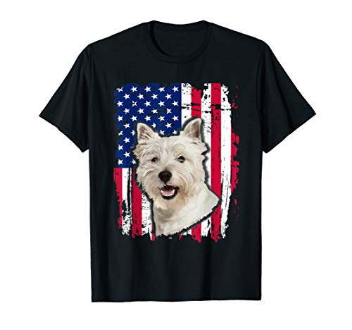Westie US flag Shirt 4th of July