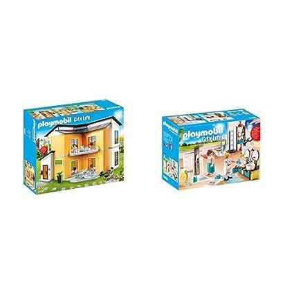 Playmobil 9266 - Modernes Wohnhaus & 9268 - Badezimmer