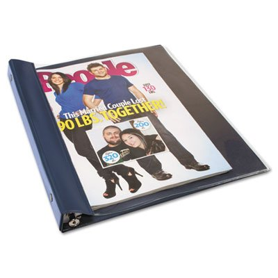 Advantus Products - Advantus - Vinyl Magazine Binder, 9 1/2w x 11-1/4h, Clear Front Cover, Navy Blue Back - Sold As 1 Each - Fits catalogs and magazines up to 11 1/4