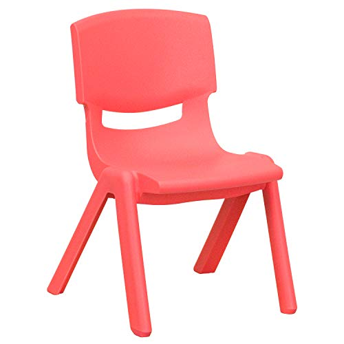 "10¬?"" Preschool/Kindergarten Red Plastic Stack Chair [YU-YCX-003-RED-GG]"
